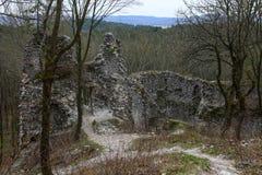 Замок voda ¡ Dobrà - очень старые руины Стоковые Фотографии RF