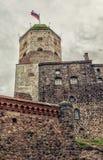 Замок Vyborg Башня StOlav Стоковое фото RF