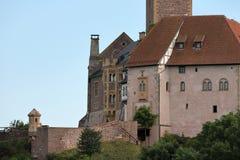 Замок Wartburg около Eisenach в тюрингии Стоковое Фото