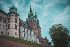 Замок Wawel в Краков стоковые изображения