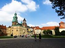 Замок Wawel, Краков, Польша Стоковые Изображения RF