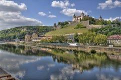 Замок Wurzburg Marienberg стоковое изображение