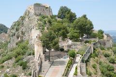 Замок Xativa - Испании стоковые фотографии rf