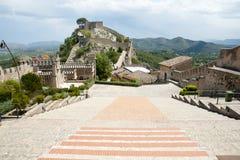 Замок Xativa - Испании стоковая фотография rf