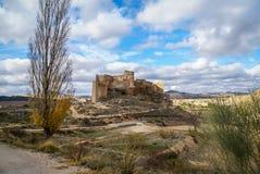 Замок Zorita, Ла Mancha Кастилии, Испания Стоковые Изображения