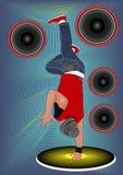Замораживание выставок рогульки bboy бесплатная иллюстрация
