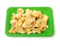 Замораживание - высушенные части ананаса стоковое изображение rf