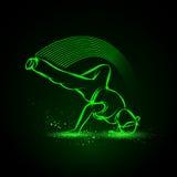 Замораживание Breakdance Иллюстрация неона вектора бесплатная иллюстрация