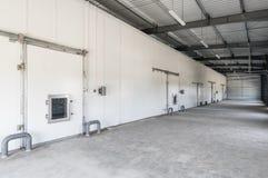 Замораживатель склада в фабрике Стоковые Изображения