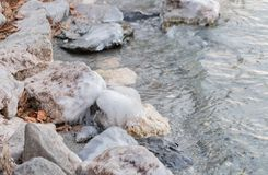 Замороженная вода на озере 12 Стоковые Изображения RF