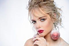 Замороженная женская модель Стоковая Фотография RF