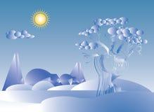 Замороженная зима ландшафта Стоковая Фотография RF