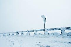 Замороженная зима дороги Стоковое Изображение