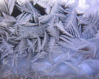 замороженная зима окна Стоковое Изображение