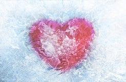 замороженная иллюстрация сердца Валентайн дня s человек влюбленности поцелуя принципиальной схемы к женщине Стоковая Фотография
