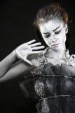 замороженная мистическая серебряная женщина Стоковые Изображения RF