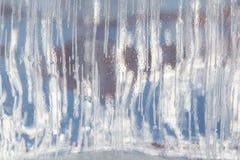 Замороженная предпосылка блока льда в зиме Стоковое Фото