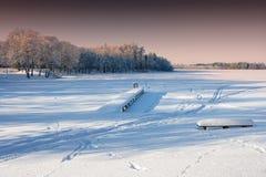 замороженная пристань Стоковое Изображение RF