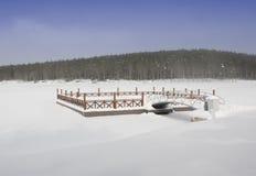 замороженная пристань Стоковые Фотографии RF