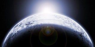 Замороженная планета Стоковые Изображения