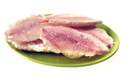 Замороженная рыба большая плита Стоковые Фотографии RF