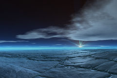 замороженная тундра Стоковые Фотографии RF