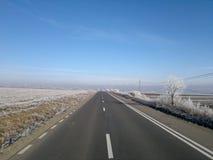 Замороженная улица стоковая фотография