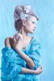 Замороженная фея с яблоком Стоковые Изображения RF