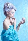 Замороженная фея с яблоком Стоковое Изображение