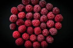Замороженная ягода на черной предпосылке Стоковые Фотографии RF