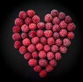 Замороженная ягода на черной предпосылке Стоковая Фотография RF