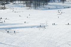 замороженное воссоздание озера Стоковое Фото