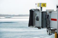 Замороженное гудронированное шоссе Стоковая Фотография