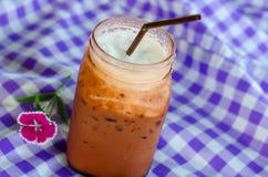 Замороженное какао в стекле Стоковые Изображения
