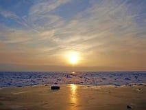 замороженное озеро солнечное Стоковое фото RF