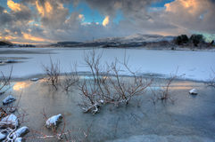 замороженное озеро Стоковые Изображения