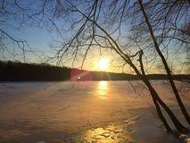 замороженное озеро Стоковое Изображение RF