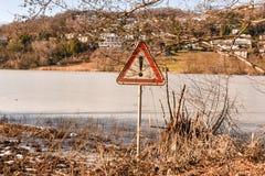 Замороженное озеро Muzzano около Лугано Стоковая Фотография RF