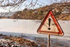 Замороженное озеро Muzzano около Лугано Стоковые Изображения RF