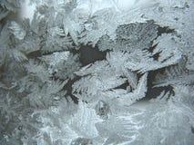 Замороженное окно зимы Стоковые Изображения