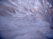 Замороженное окно зимы Стоковое Фото
