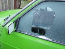 замороженное окно Стоковые Изображения RF