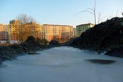 Замороженное поселение Стоковое Изображение