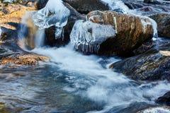 Замороженное река горы Стоковая Фотография RF