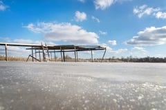 Замороженное река с этапом Стоковое фото RF