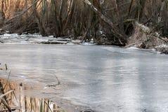 Замороженное река Стоковое Изображение RF