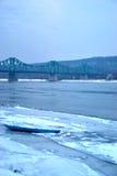 замороженное река Стоковые Изображения RF