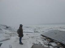 замороженное река стоковое фото