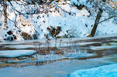 Замороженное река Keila Стоковые Изображения