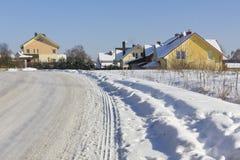 замороженное село Стоковые Фото